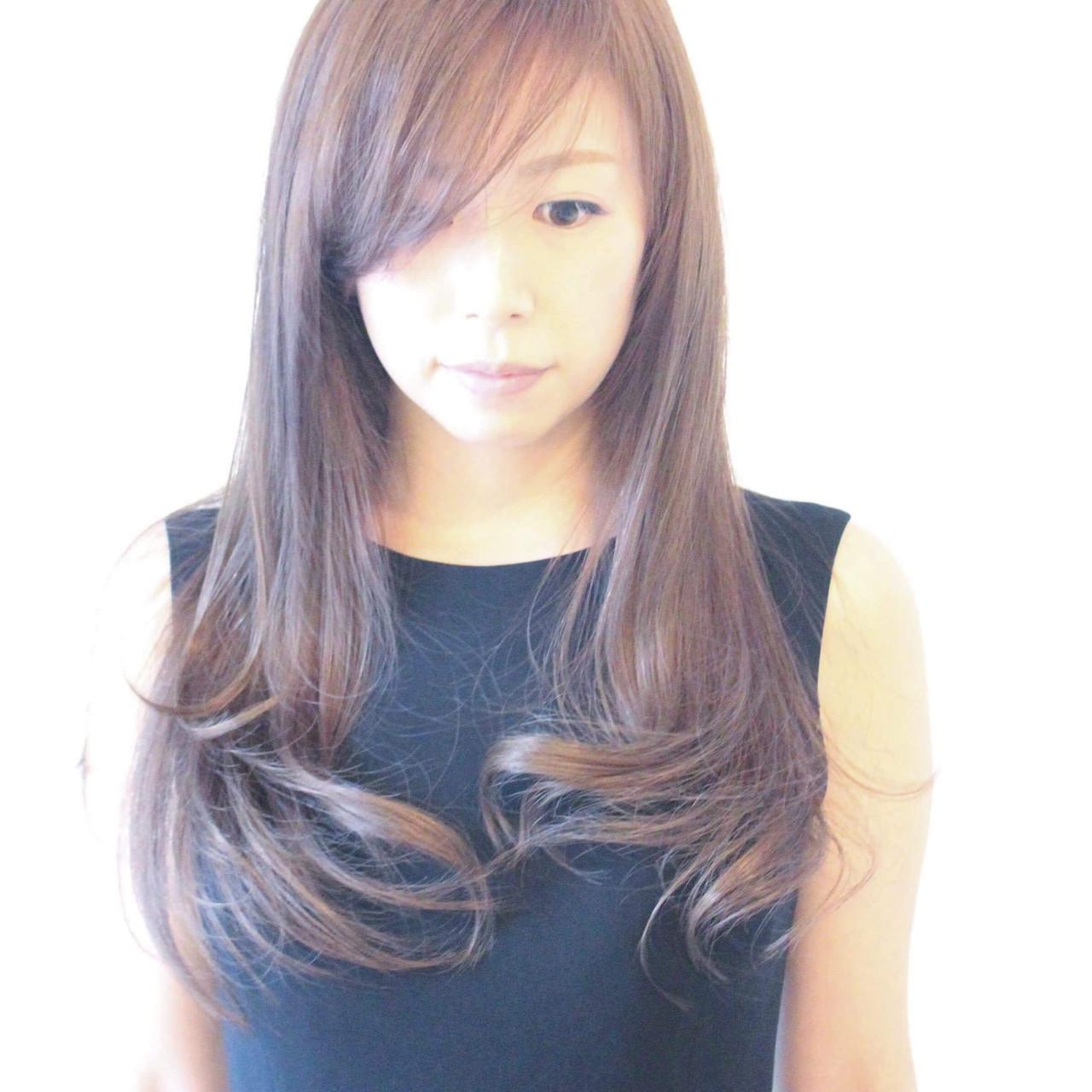 フェミニン グラデーションカラー 外国人風カラー セミロング ヘアスタイルや髪型の写真・画像