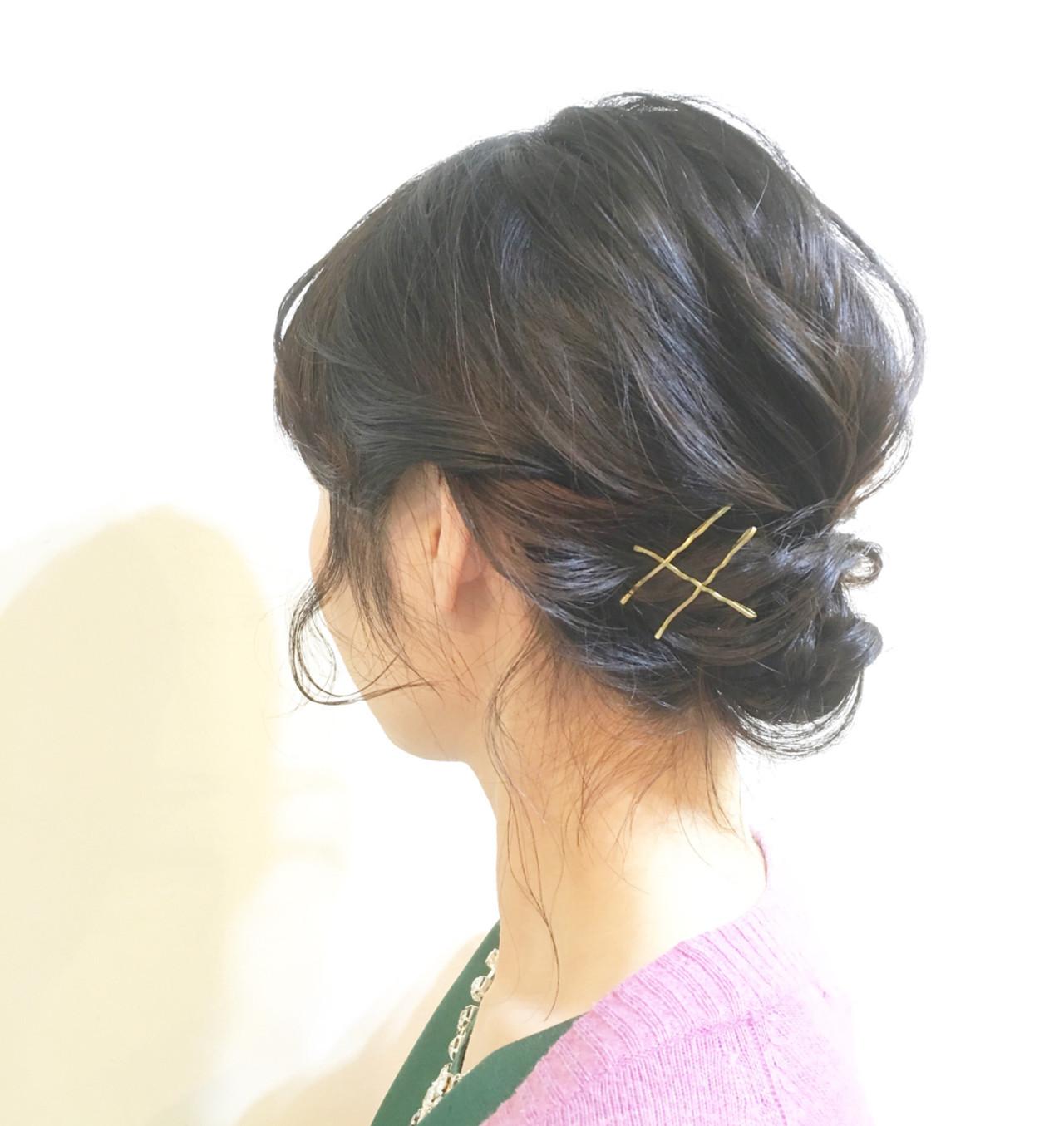 法事にはきっちりしたまとめ髪で! COM PASS タイチ