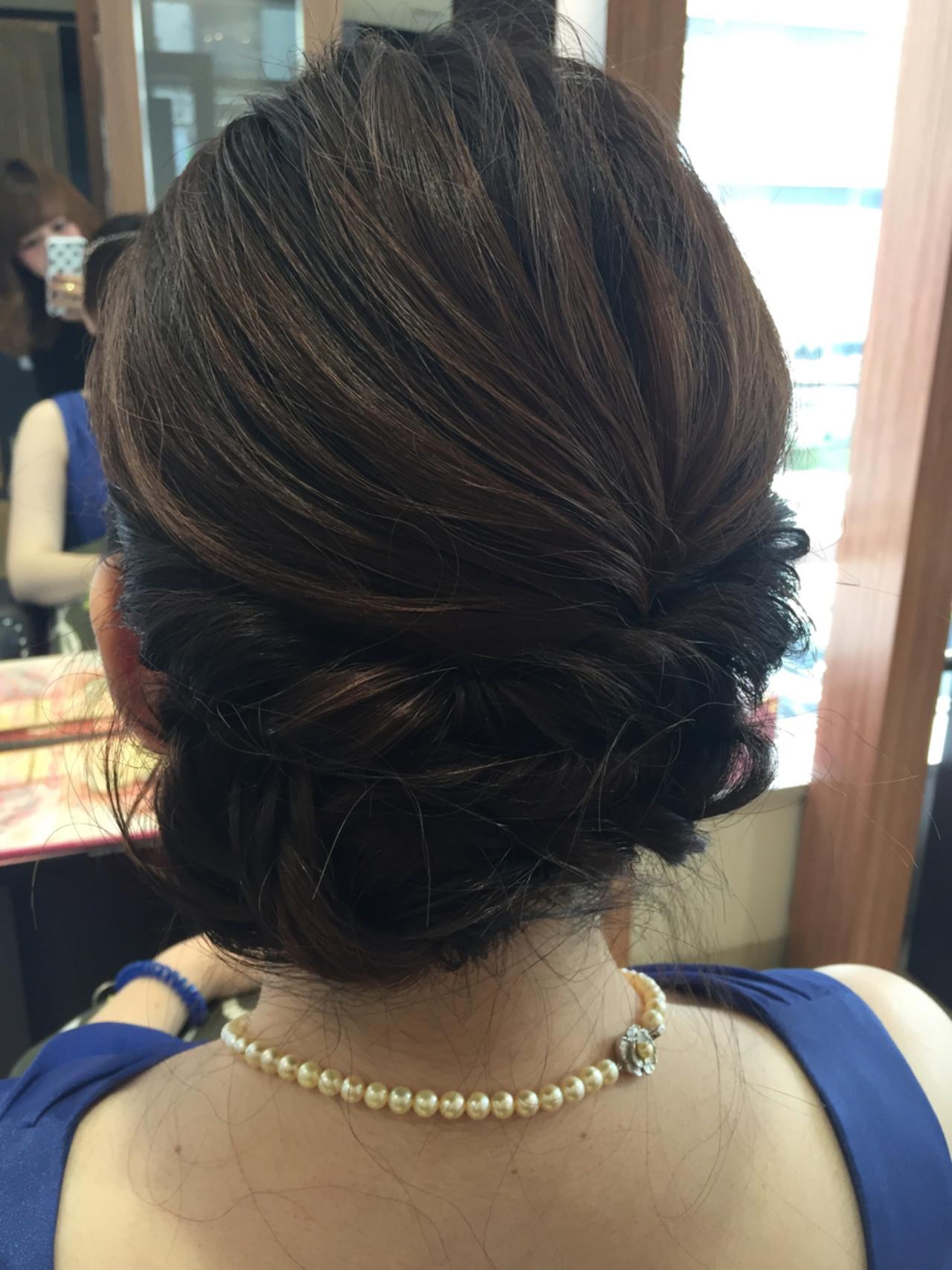 ロープ編み ミディアム 上品 エレガント ヘアスタイルや髪型の写真・画像