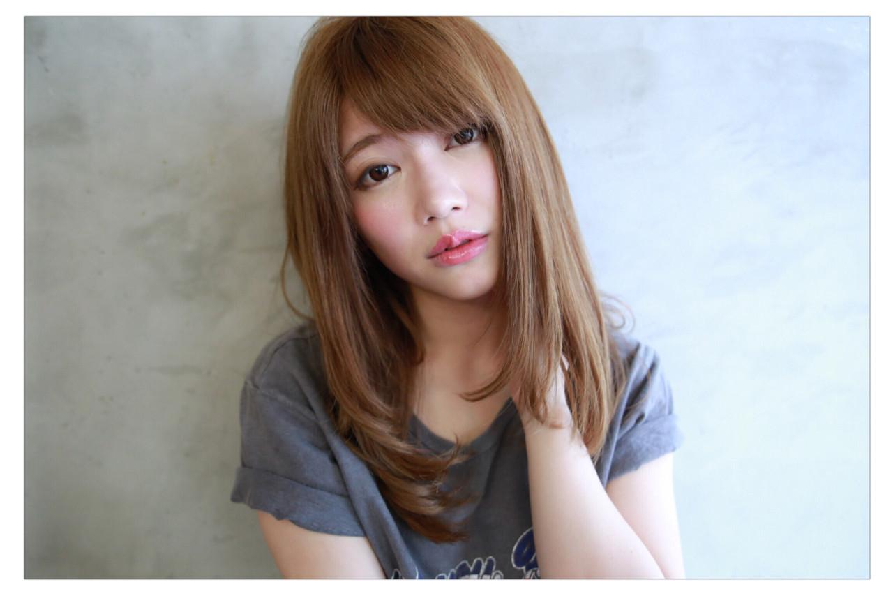 ワンカール 透明感 ヘアアレンジ セミロング ヘアスタイルや髪型の写真・画像