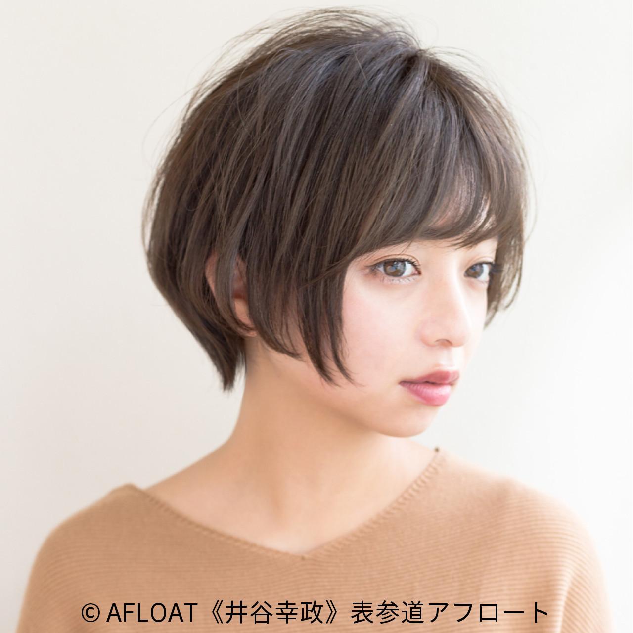 大人かわいい 小顔 ショートボブ 20代 ヘアスタイルや髪型の写真・画像