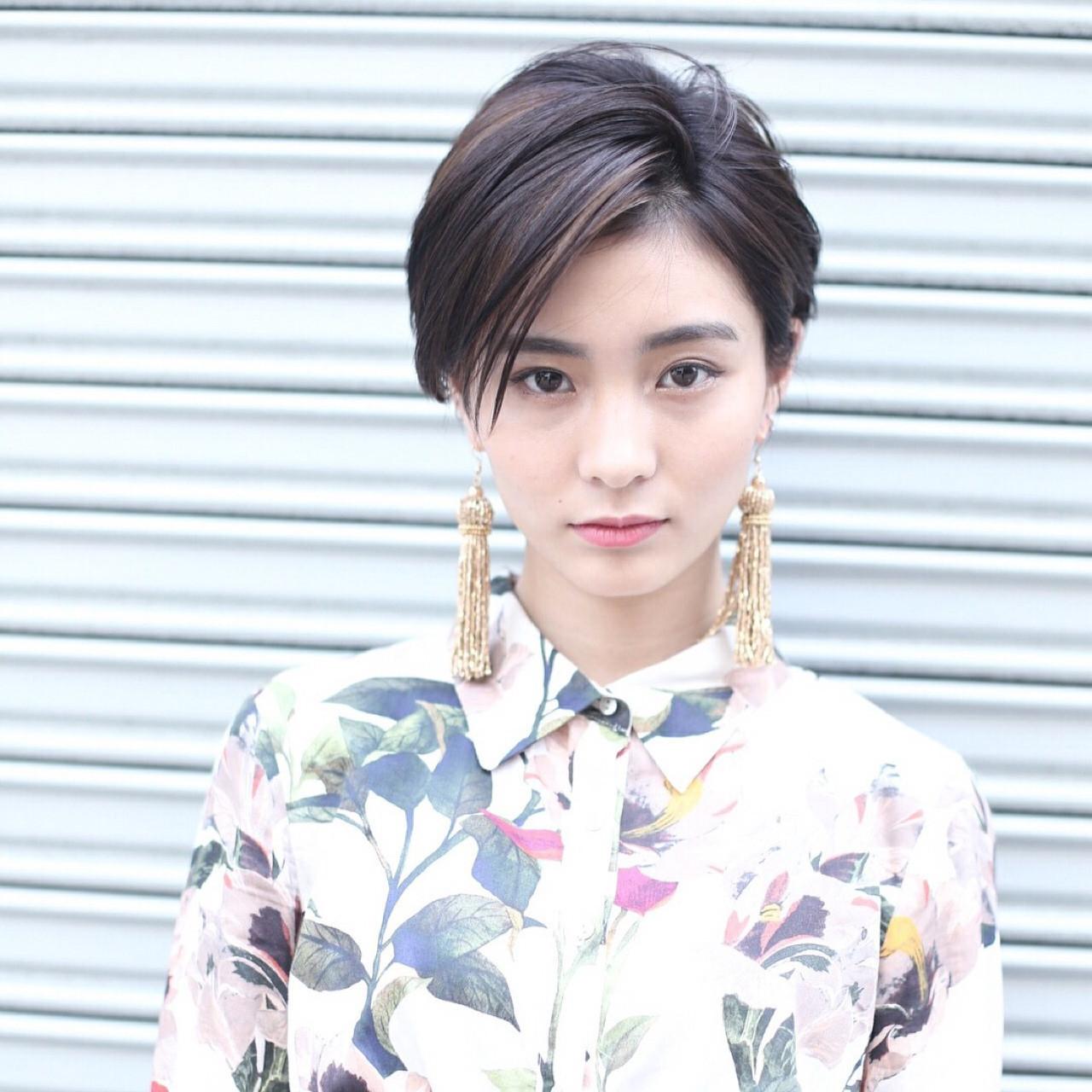斜め前髪でつくるクールな刈上げショート Rika Fuchigami