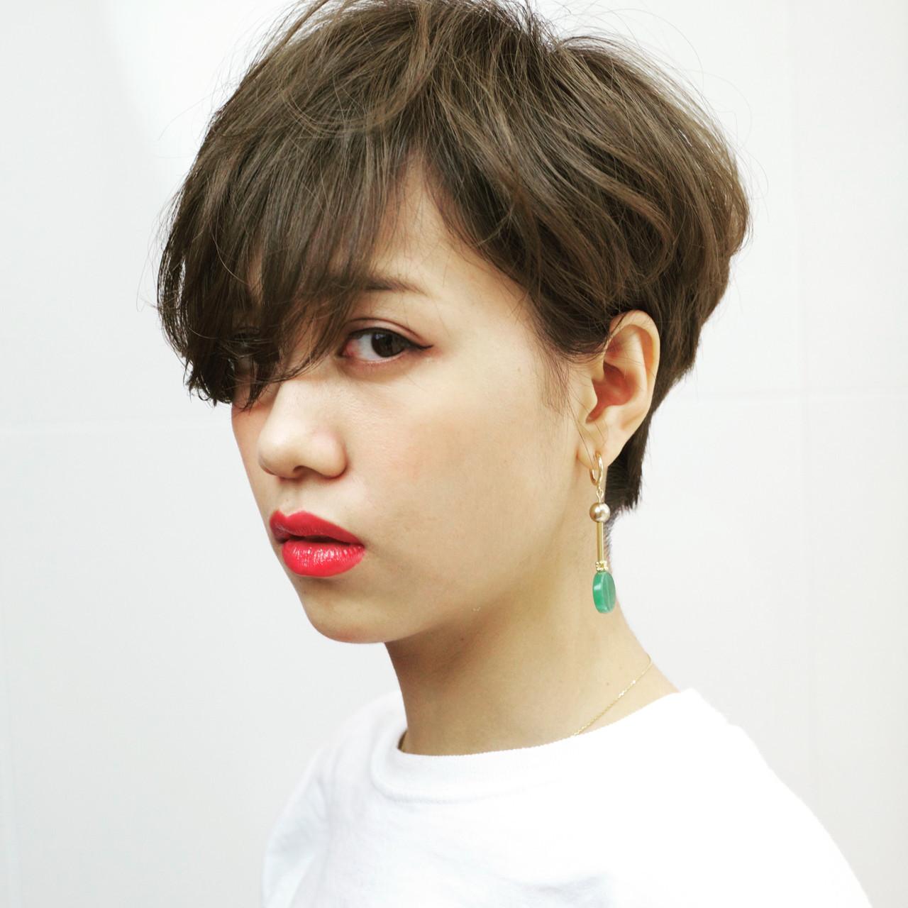 パーマ ショート ヘアアレンジ ストリート ヘアスタイルや髪型の写真・画像