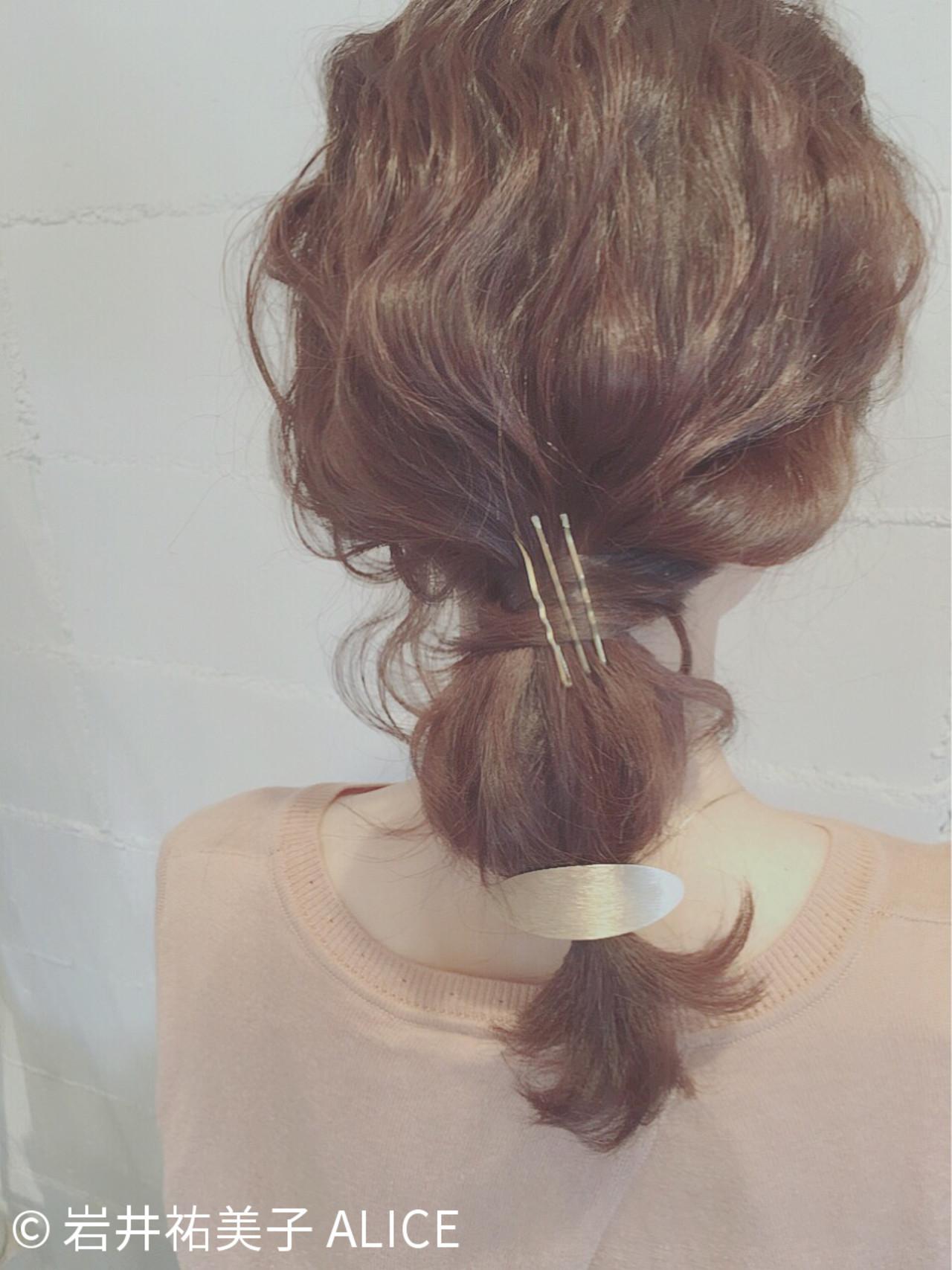 ヘアアレンジ セミロング 夏 ショート ヘアスタイルや髪型の写真・画像