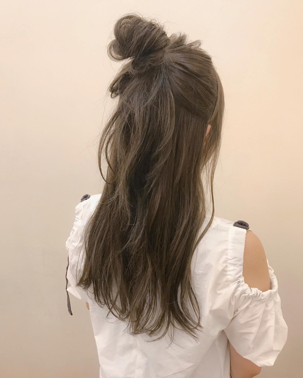 夏 ヘアアレンジ ロング 簡単ヘアアレンジ ヘアスタイルや髪型の写真・画像