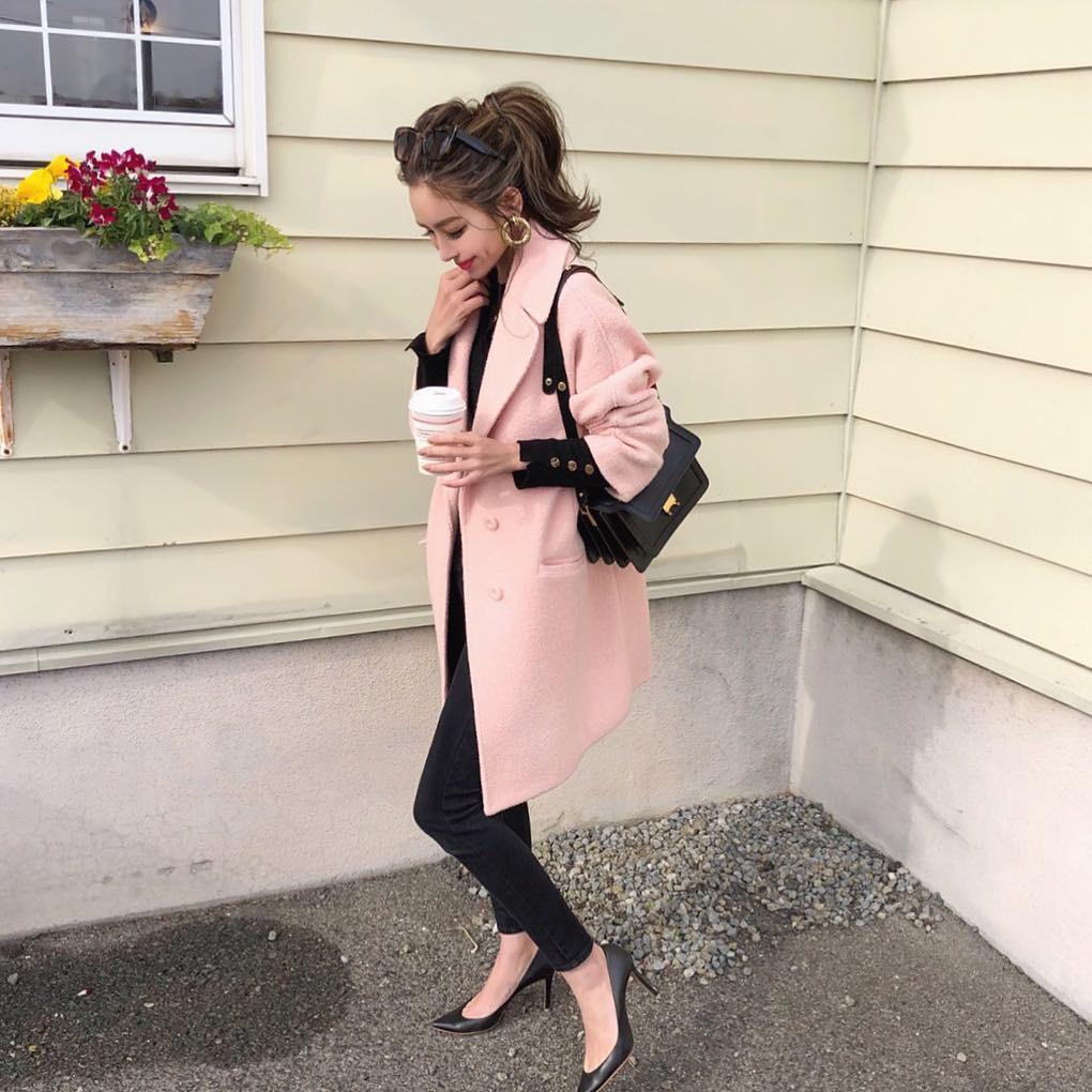 ピンクのコートでモテコーデ♡ masamiiiis