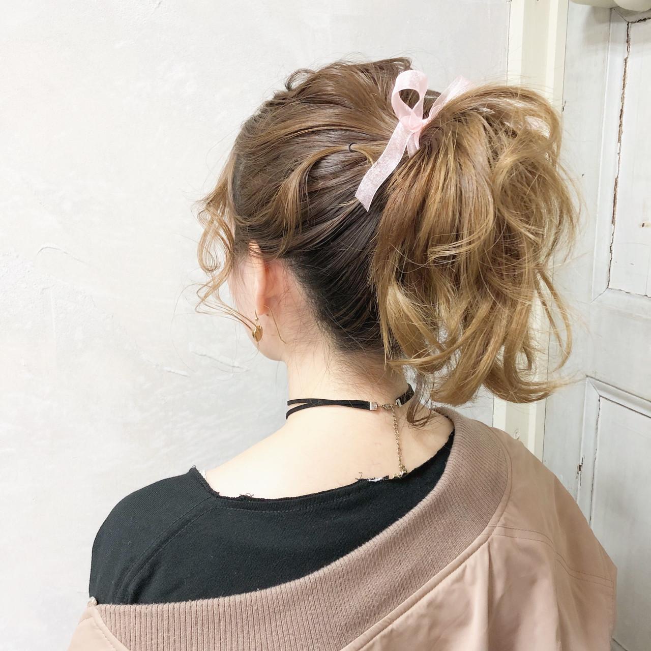 ゆるふわ巻き髪がポニーを華やかで可愛くする♪ hii.de@✂︎