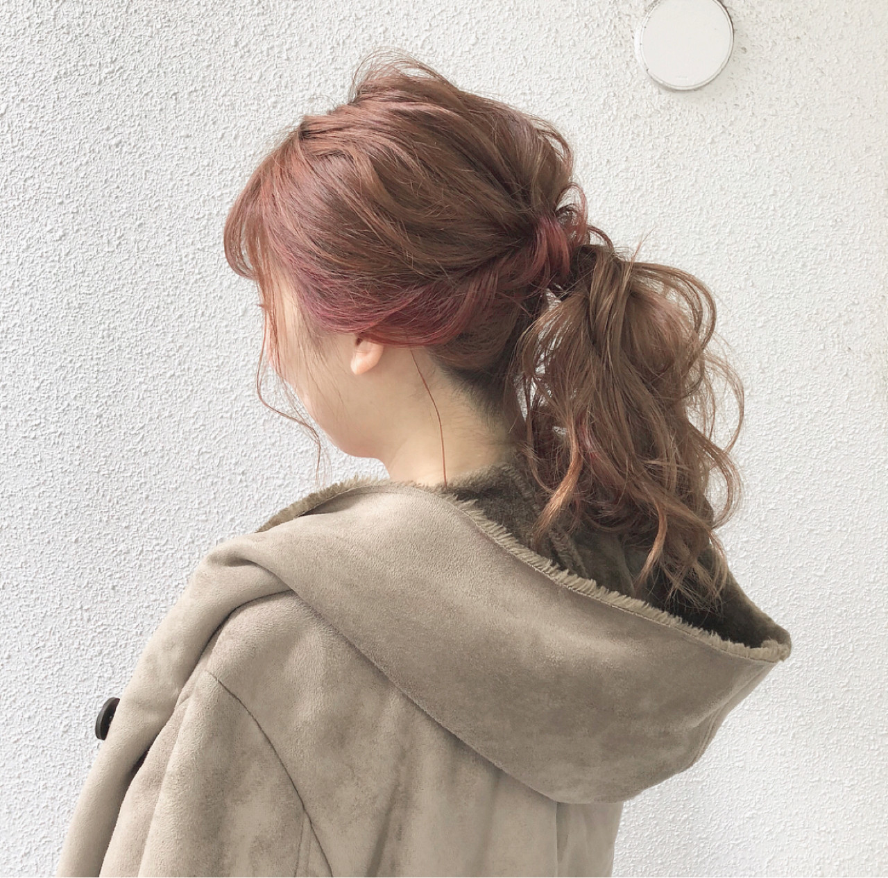 ポニーテール デート ナチュラル ヘアアレンジ ヘアスタイルや髪型の写真・画像
