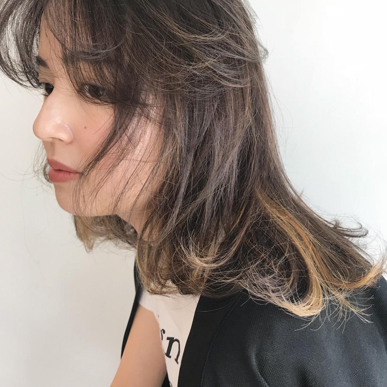 抜け感 ナチュラル 透明感 前髪あり ヘアスタイルや髪型の写真・画像