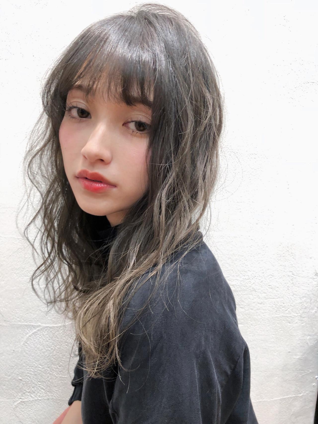 ふわふわ モード ミディアム 外国人風 ヘアスタイルや髪型の写真・画像