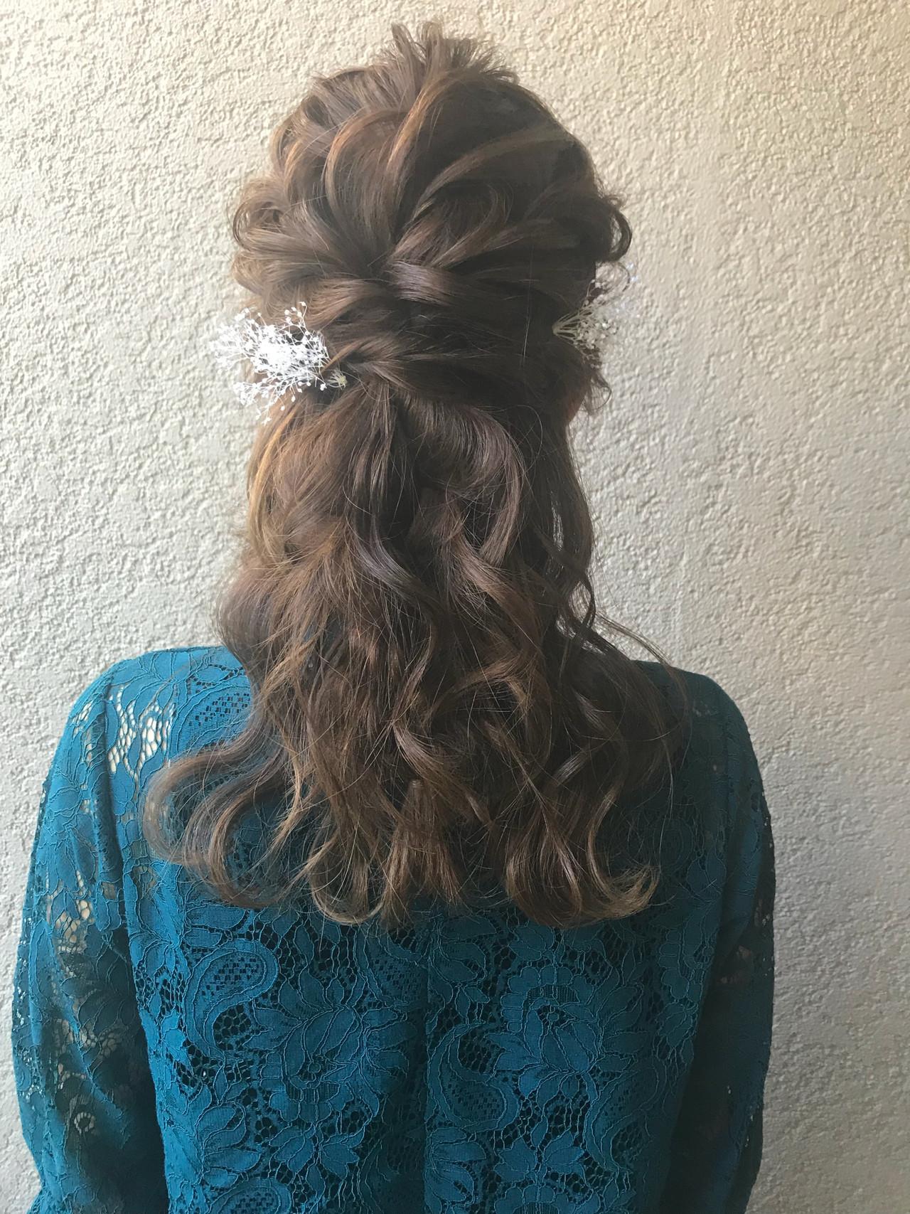 デート ヘアアレンジ アンニュイほつれヘア ガーリー ヘアスタイルや髪型の写真・画像