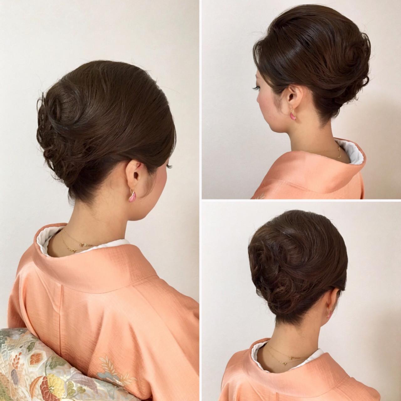 アップスタイル ヘアアレンジ エレガント 上品 ヘアスタイルや髪型の写真・画像