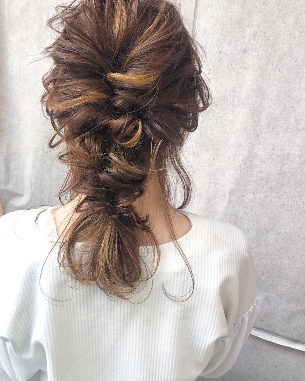簡単ヘアアレンジ ヘアアレンジ 結婚式 デート ヘアスタイルや髪型の写真・画像