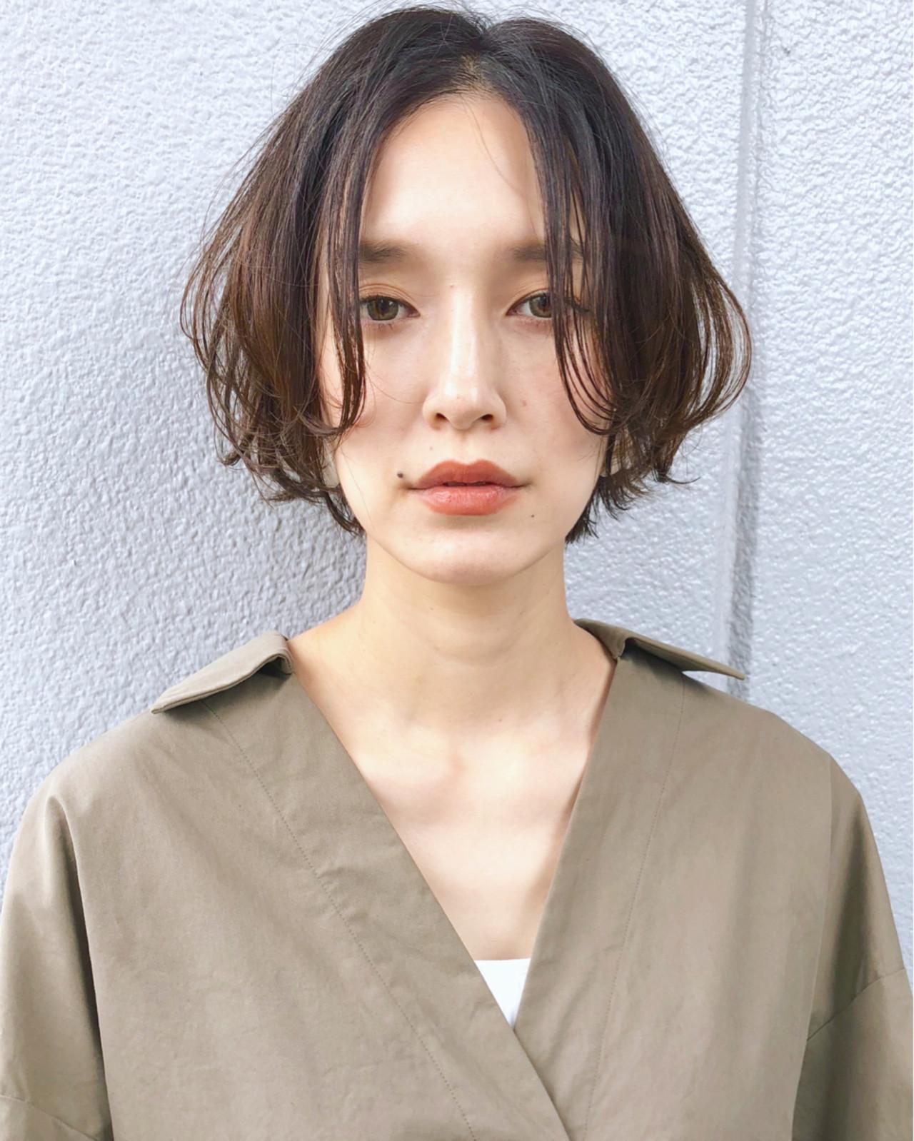 長め前髪が女っぽ♡ショートボブ 三好 佳奈美