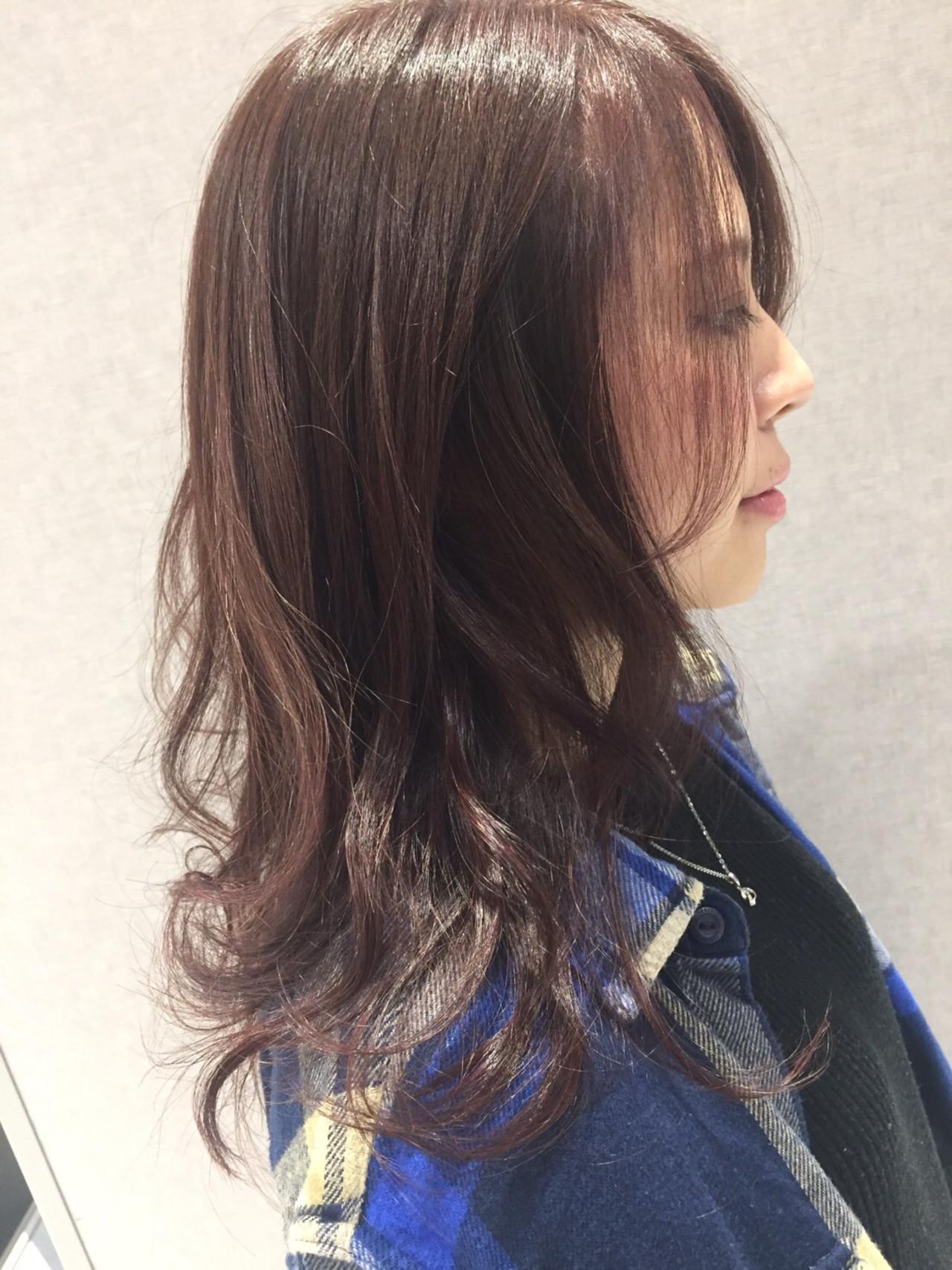 ピンクパープル ラベンダーピンク ピンクアッシュ ラズベリーピンク ヘアスタイルや髪型の写真・画像