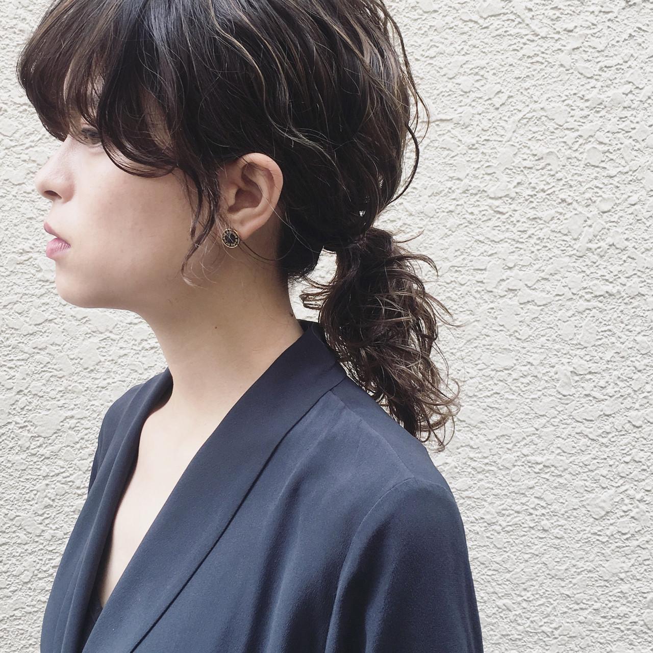 アンニュイ ウェーブ パーマ 外国人風 ヘアスタイルや髪型の写真・画像
