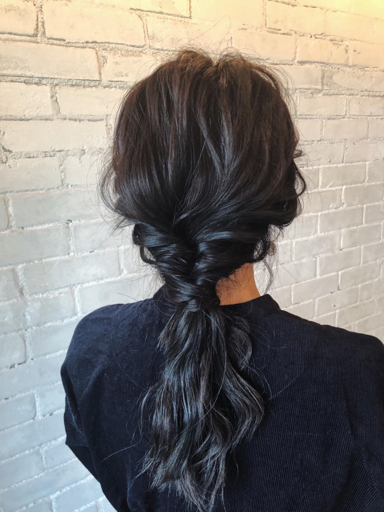 ゆるふわ まとめ髪 ロング 簡単ヘアアレンジ ヘアスタイルや髪型の写真・画像