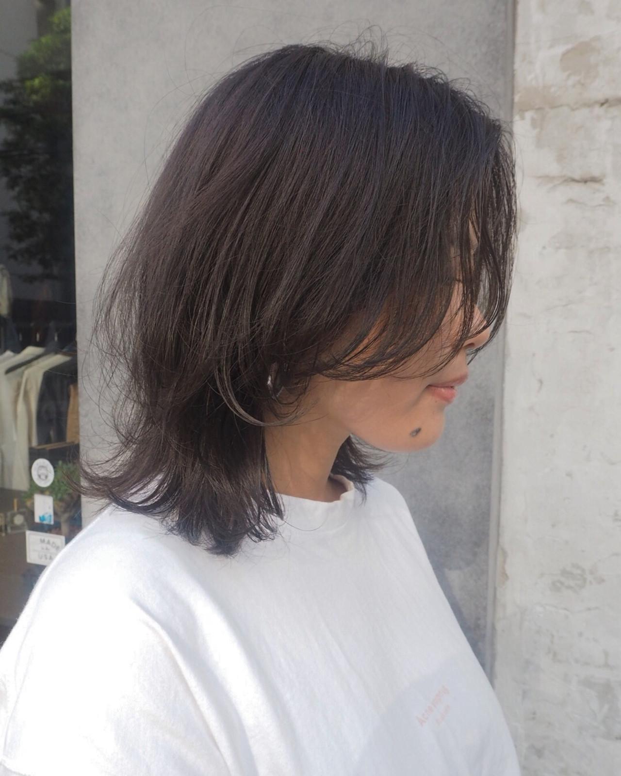 ナチュラル マッシュ レイヤーカット ボブ ヘアスタイルや髪型の写真・画像
