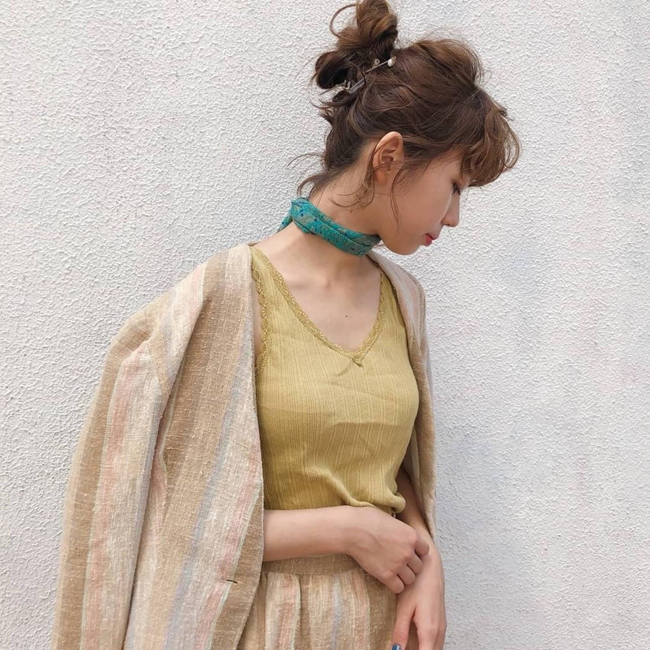 後れ毛がポイント!お団子ボブアレンジ 杉本侑菜 (すぎもと ありな)