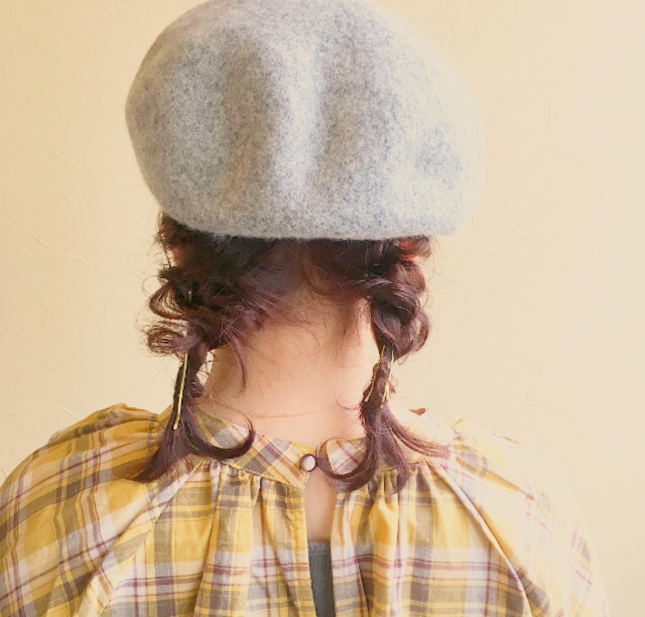 三つ編みツインでガーリーに♡ 宮川 美香