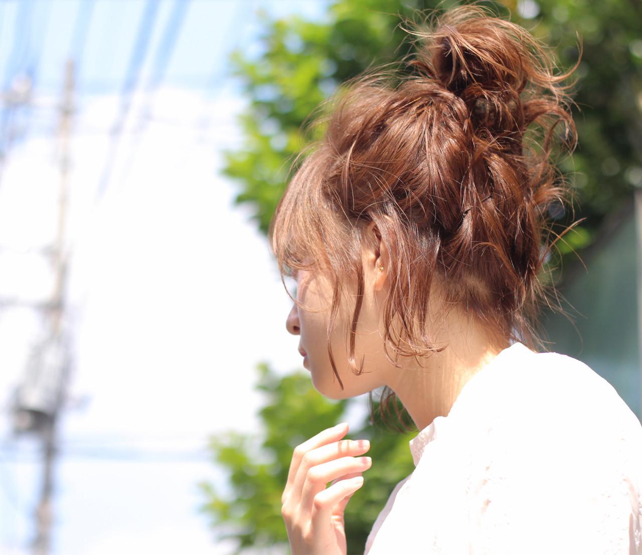 短くてもできちゃう♪ガーリーな高めお団子ヘア Wataru Maeda