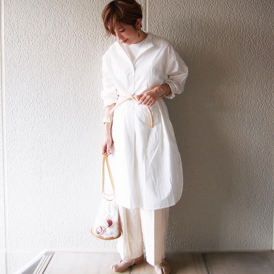 ホワイトで♪大人カジュアルコーデ misato36