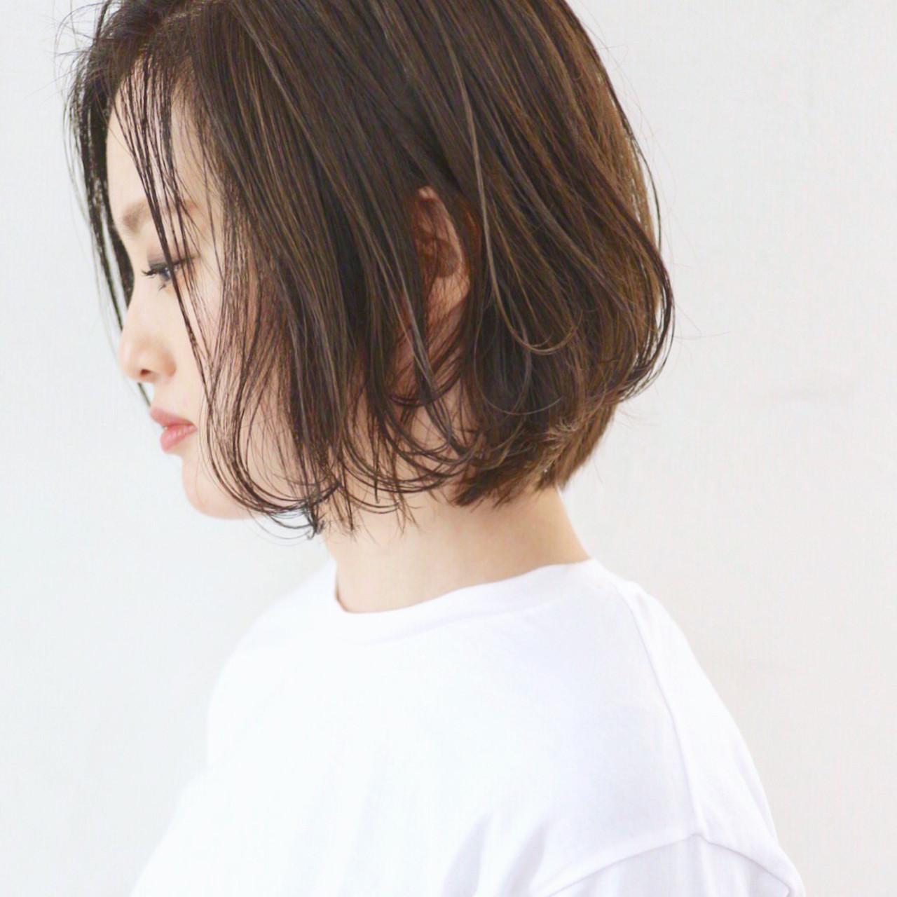 ローライト アンニュイほつれヘア 外国人風カラー ボブ ヘアスタイルや髪型の写真・画像