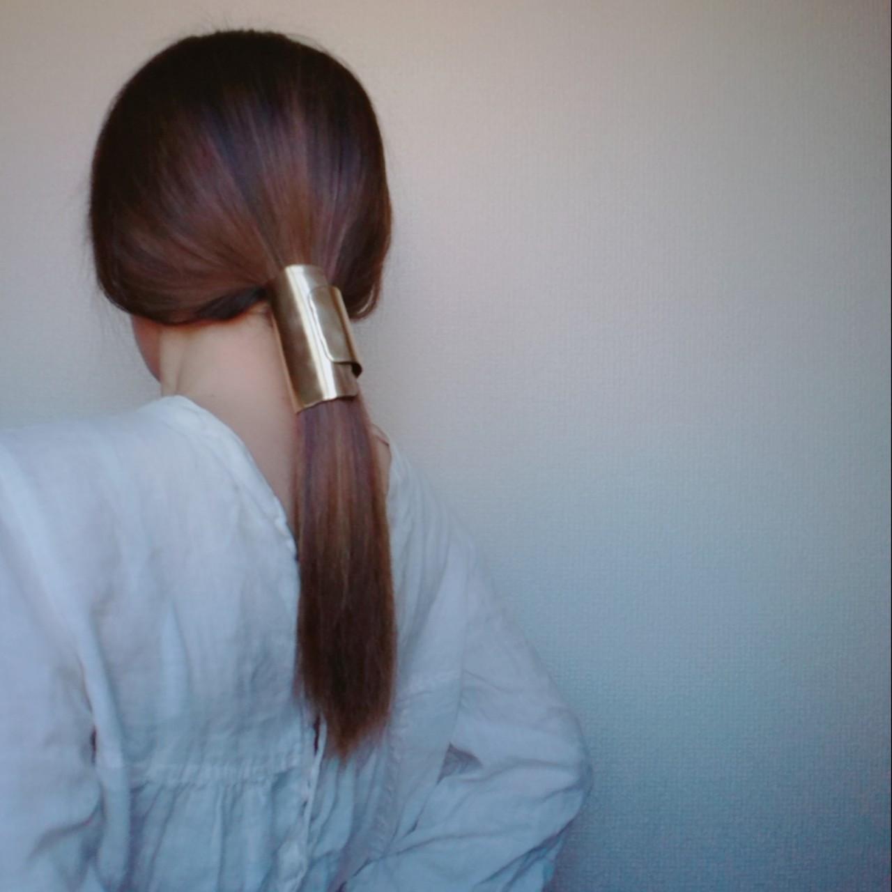 セミロング ショート ヘアアクセ 簡単ヘアアレンジ ヘアスタイルや髪型の写真・画像