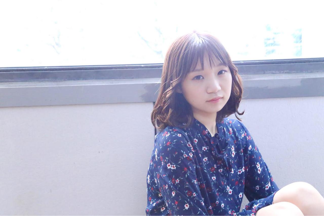 ナチュラルなシースルーバングミディアム kiyoshi コハラ ヨシユキ  Hair and Make kiyoshi