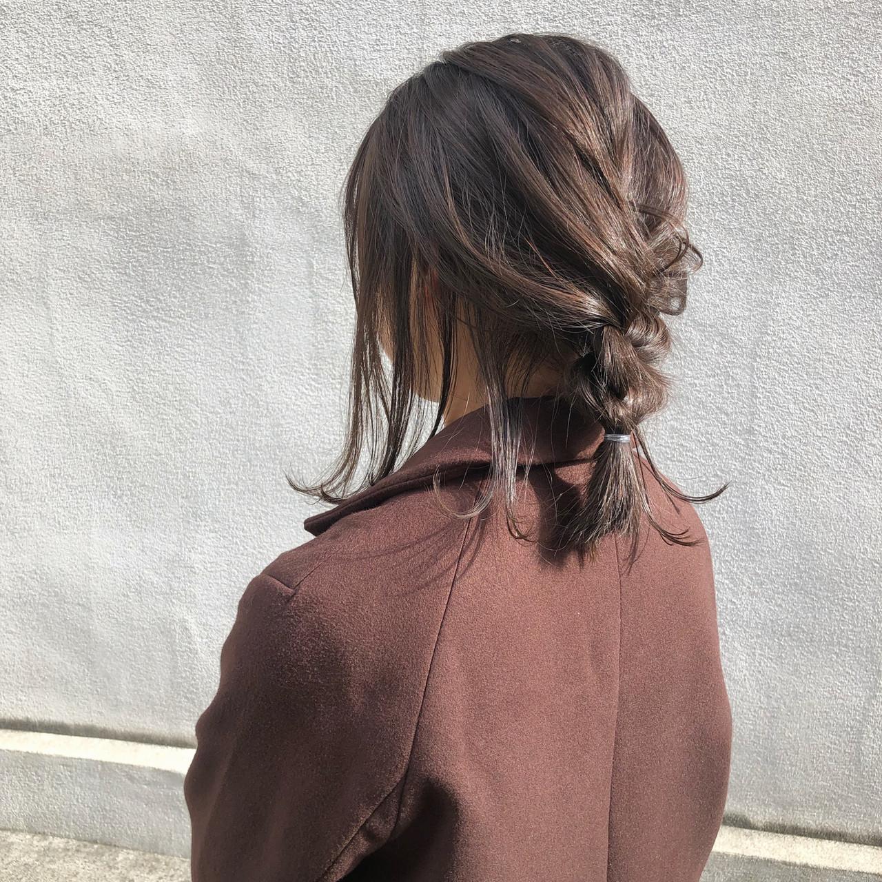 デート ナチュラル アンニュイほつれヘア ヘアアレンジ ヘアスタイルや髪型の写真・画像