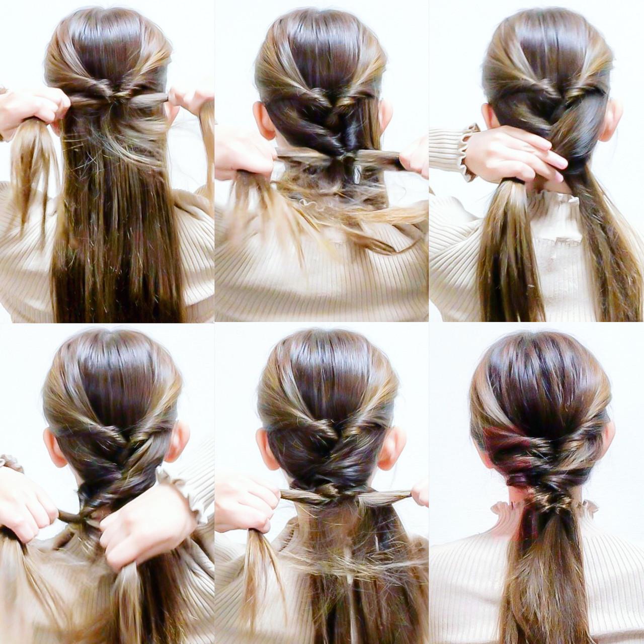 くるりんぱでできる簡単まとめ髪 美容師 HIRO