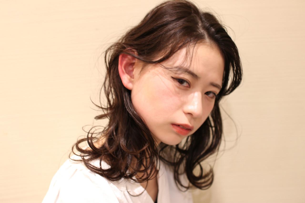耳下ウェービーパーマでおしゃれっぽ♡ katayama yuma