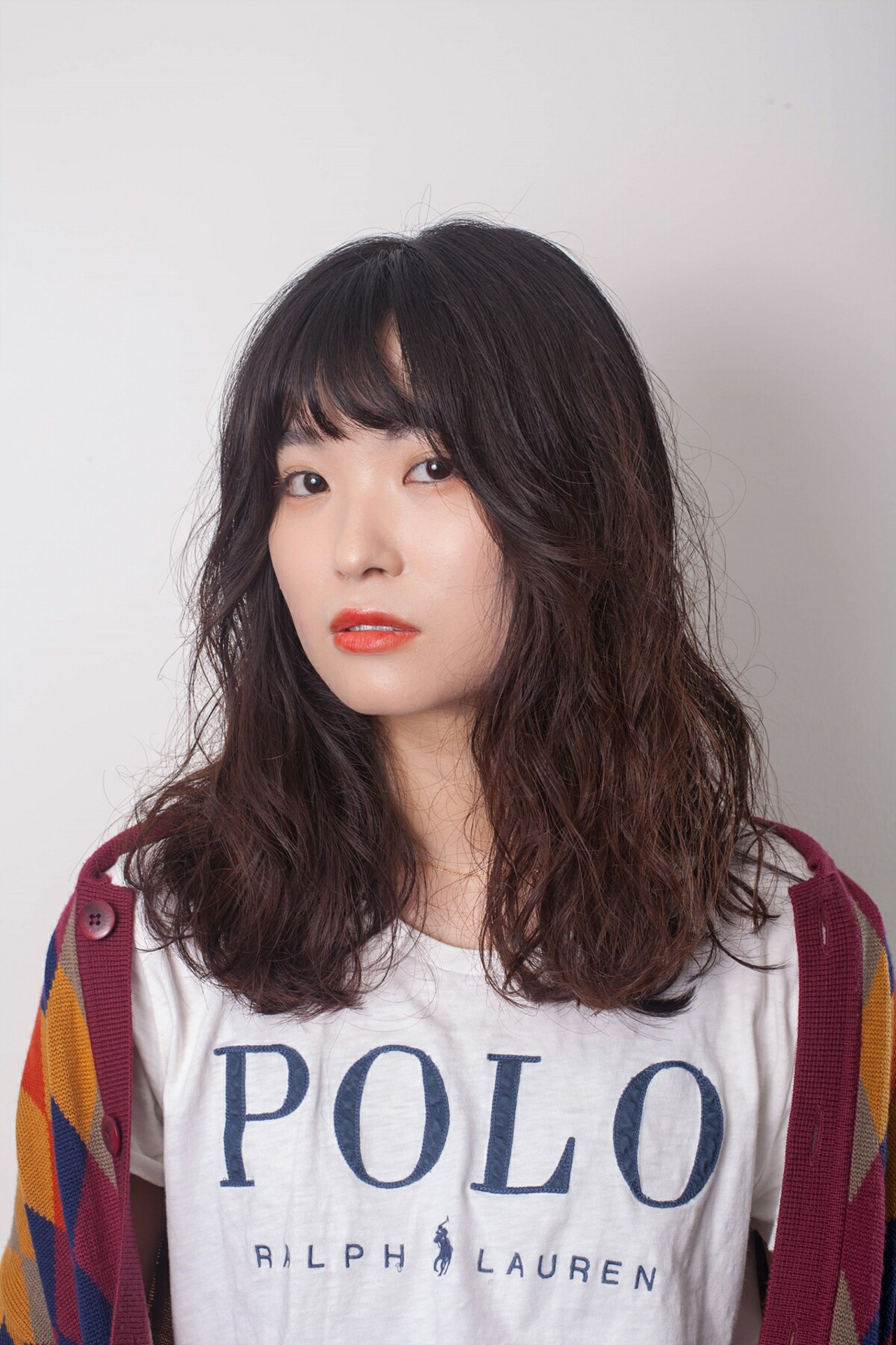 ガーリーなぱっつん&パーマ 韓国のゴヨンジュ  TANPOPO HAIR in 韓国