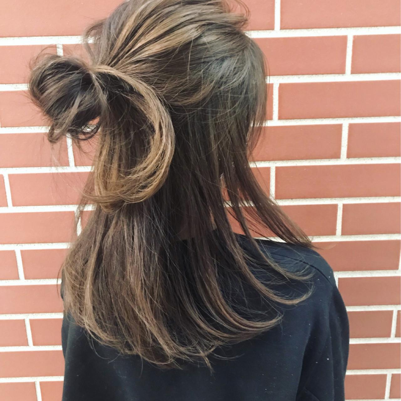 ラフな簡単ハーフアップ 遠藤広陵  mod's hair仙台PARCO店