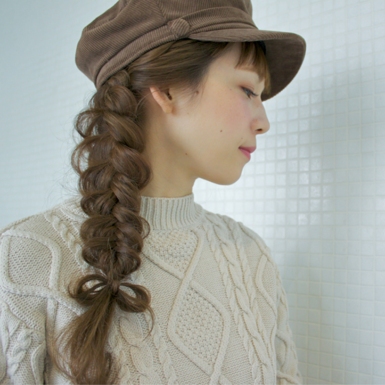 編み込みリボンの帽子アレンジ takashi cawamura  HAIR & MAKE•UP TAXI