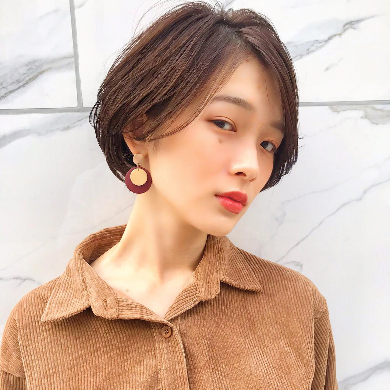 横顔美人の小顔ショート MANOHARU 新屋敷  MANOHARU
