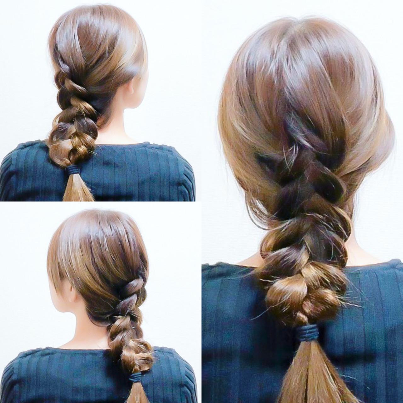 セルフヘアアレンジ フェミニン ロング ヘアアレンジ ヘアスタイルや髪型の写真・画像