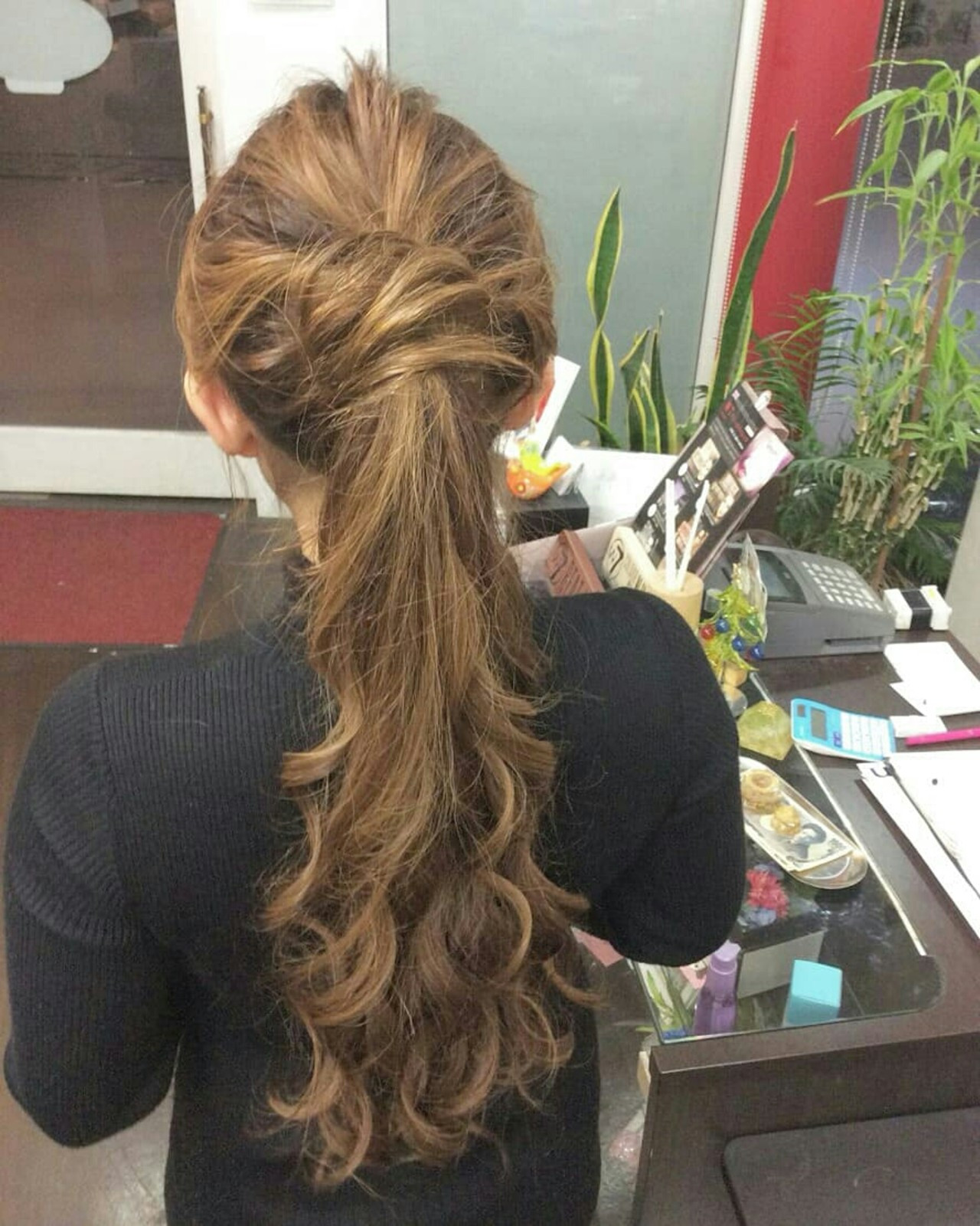 ハーフアップ ヘアアレンジ ロング ナチュラル ヘアスタイルや髪型の写真・画像