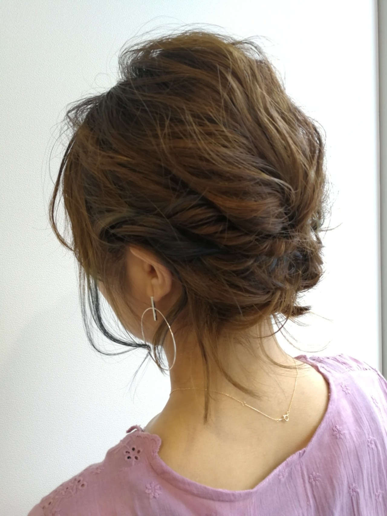 ゆるっとまとめるボブのアップヘア Saori Kastuki  Holic_beauty_salon