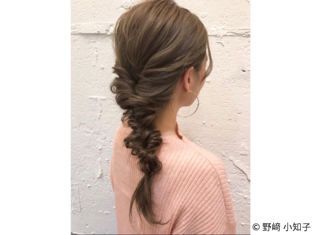 デート ショート 簡単ヘアアレンジ ロング ヘアスタイルや髪型の写真・画像