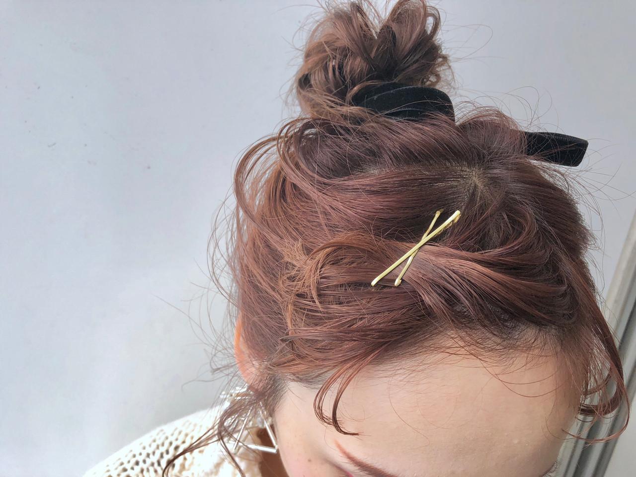 ヘアアクセ ロング ヘアアレンジ ヘアピン ヘアスタイルや髪型の写真・画像
