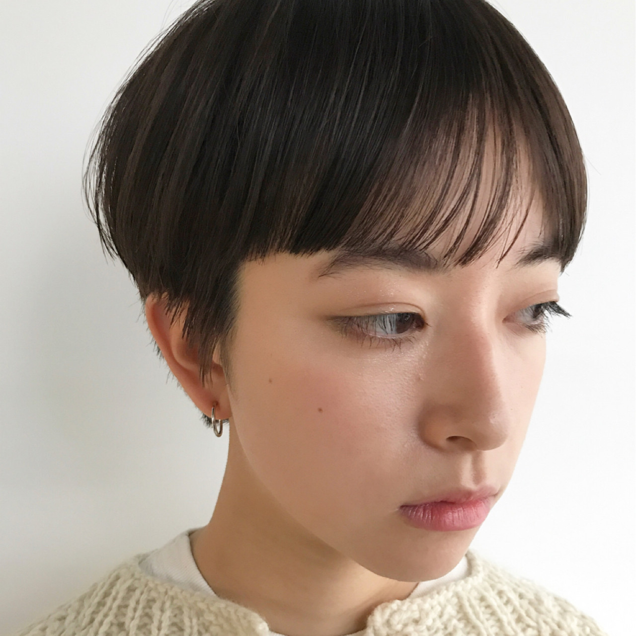 ベリーショート マッシュ ナチュラル かっこいい ヘアスタイルや髪型の写真・画像