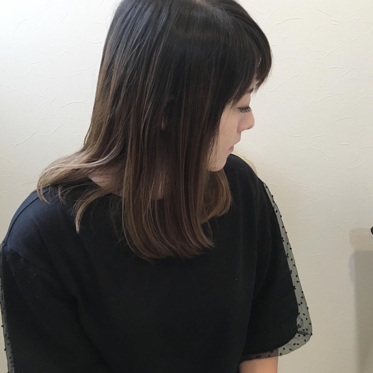 ブリーチなしでも!黒髪ベースなら抜け感抜群 原田あゆみ