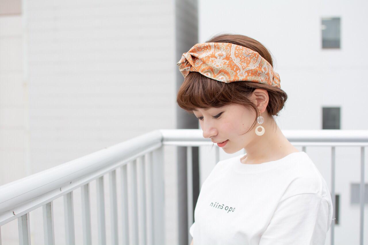 デート 大人かわいい ヘアアレンジ ショート ヘアスタイルや髪型の写真・画像