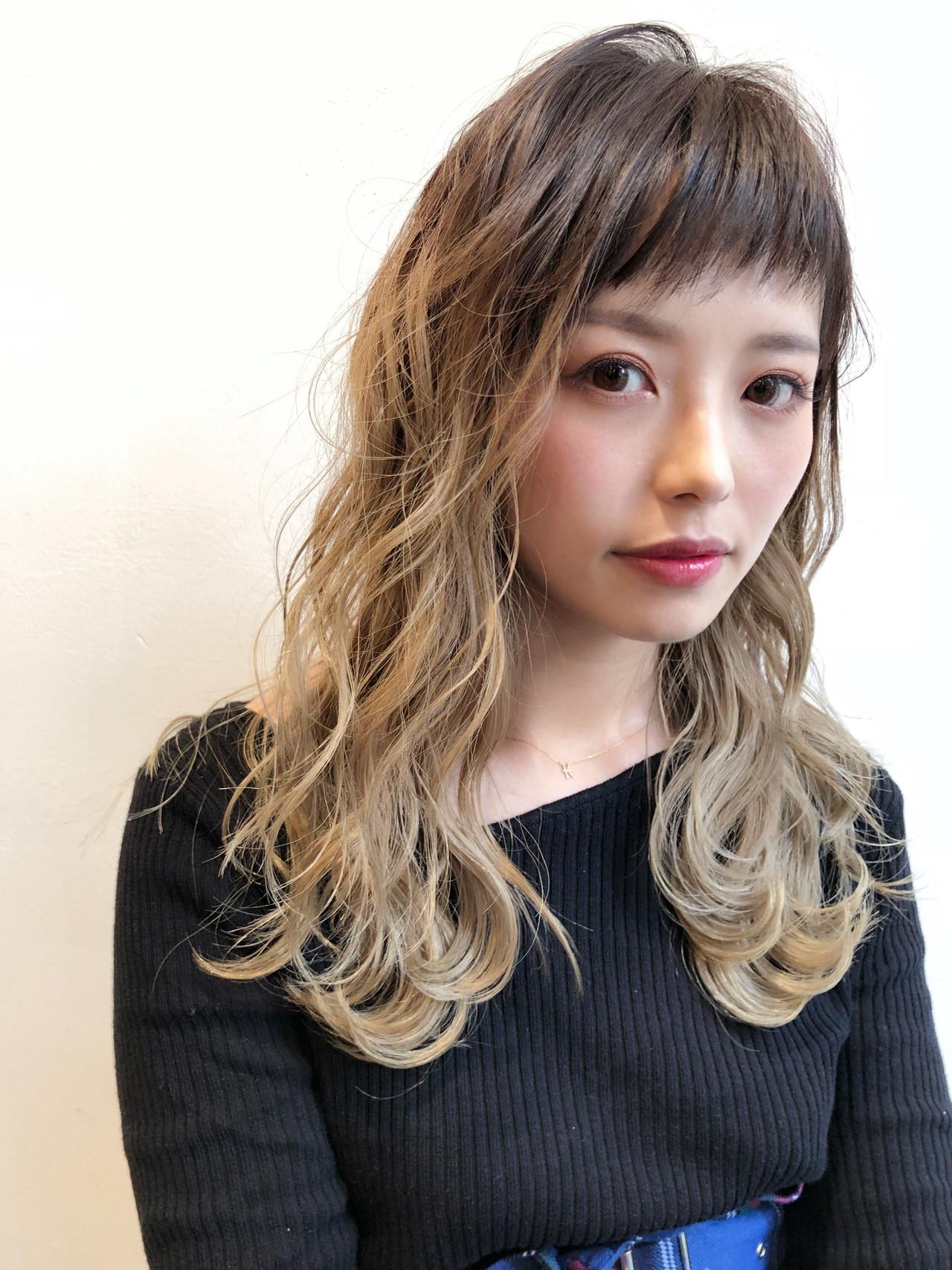 外国人風 グラデーションカラー ちぴばんぐ 透明感 ヘアスタイルや髪型の写真・画像