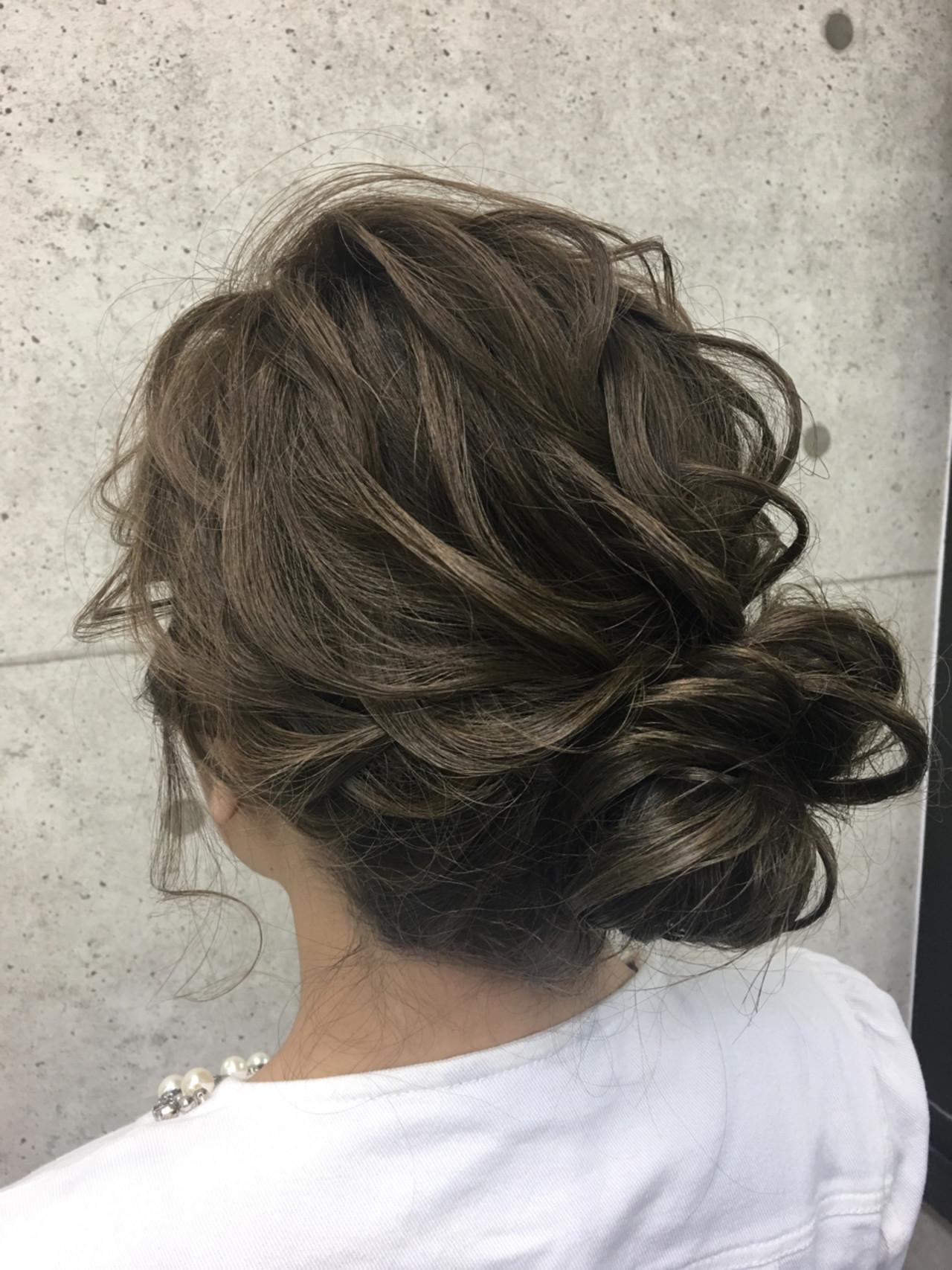 モコモコまとめたロングのアップヘア Shinji  hair make salon Revier