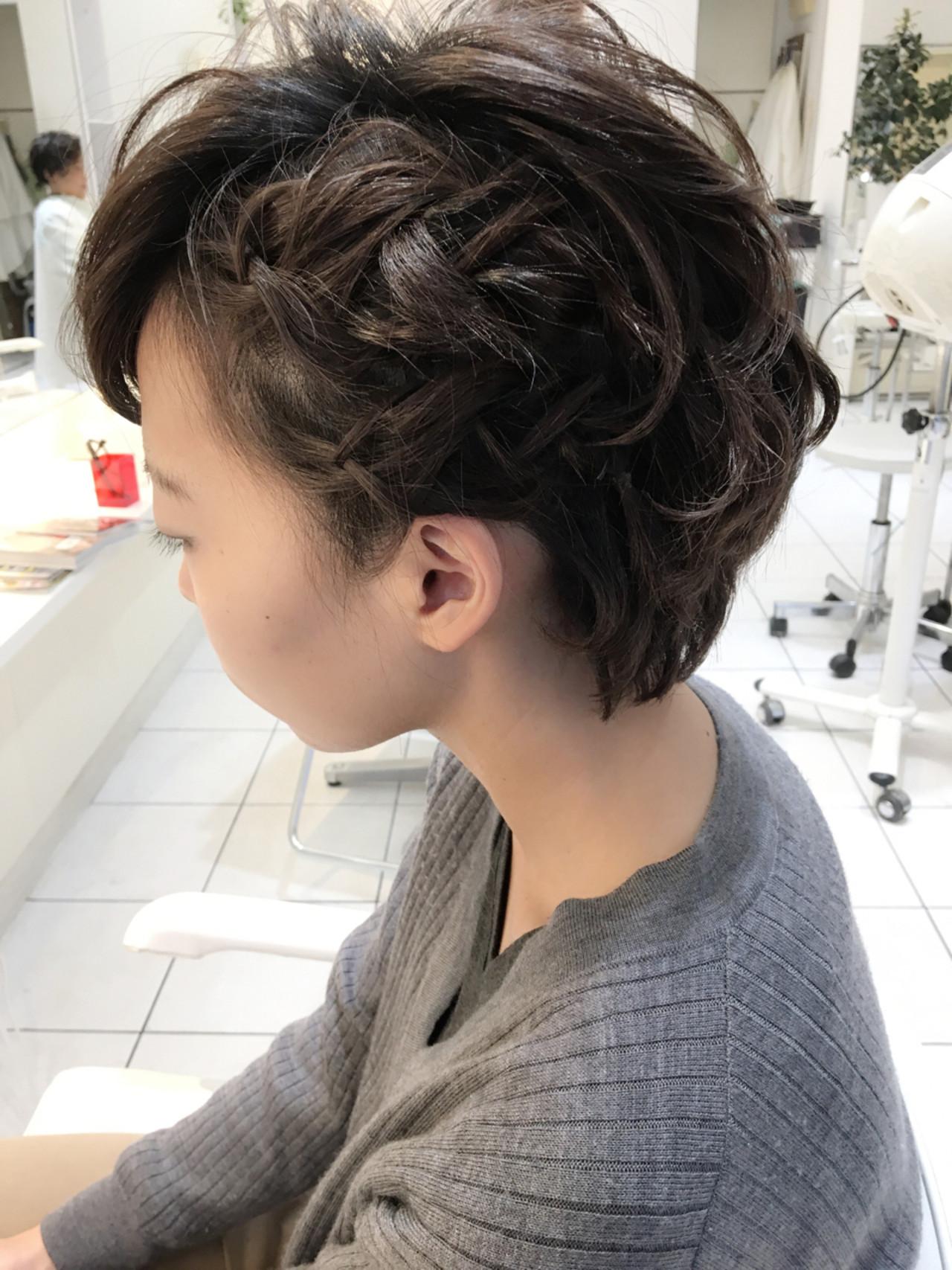 三つ編み ハーフアップ 簡単ヘアアレンジ 編み込み ヘアスタイルや髪型の写真・画像