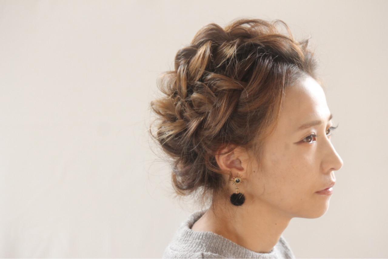 ゆるふわ ショート ウェーブ ヘアアレンジ ヘアスタイルや髪型の写真・画像