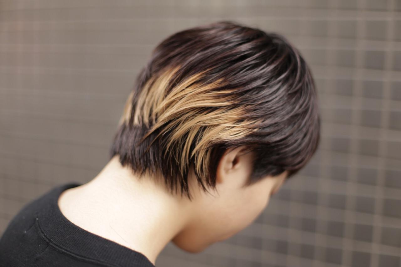 エッジの効いたデザインが光る!モード感溢れるハイライトカラー 井上 拓耶know hair studio