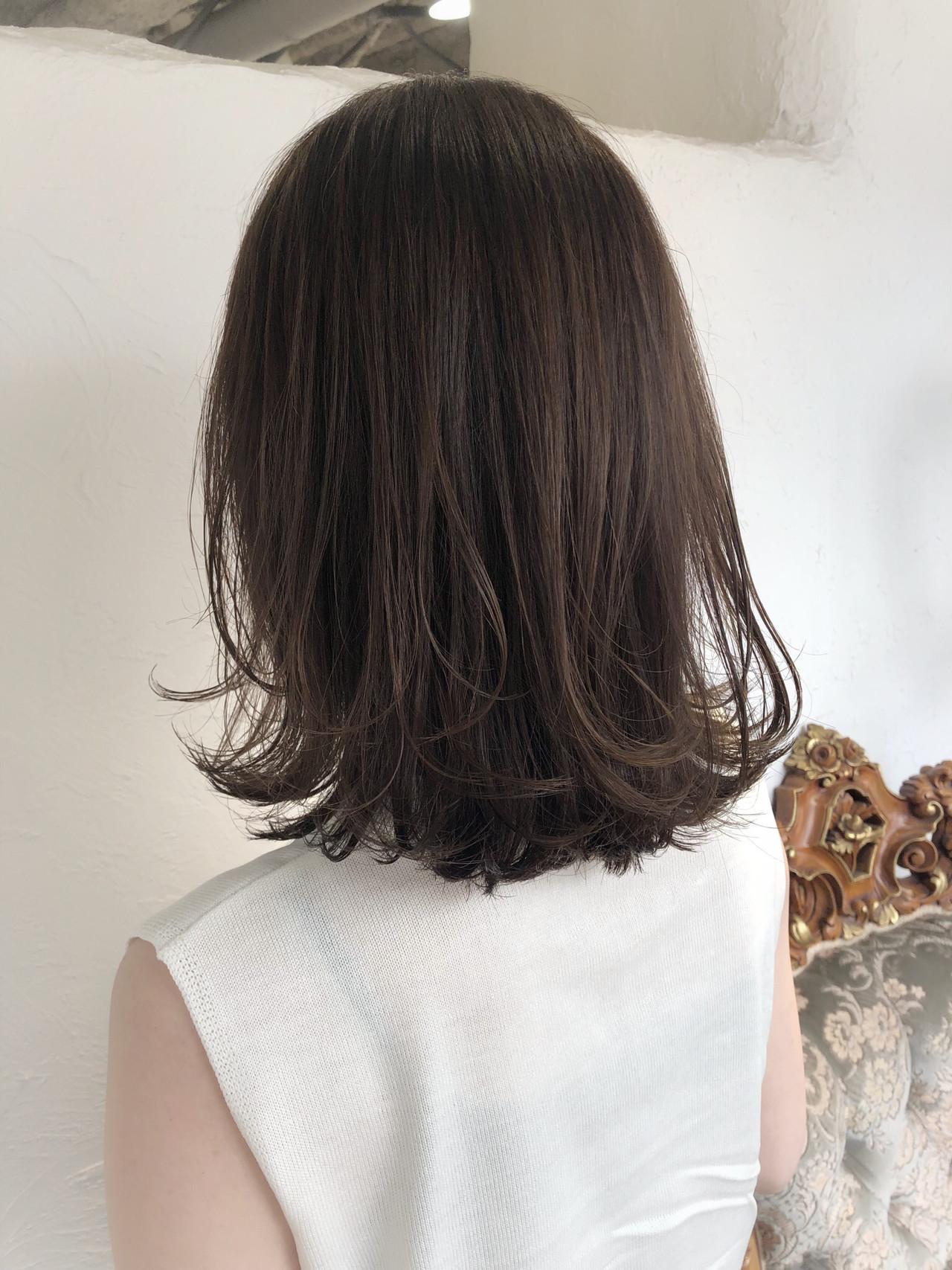 ヘアアレンジ 似合わせカット ナチュラル 透明感カラー ヘアスタイルや髪型の写真・画像